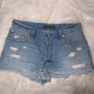 Abercrombie & Fitch Button Fly Jean Shorts